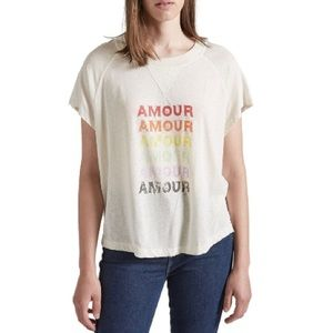 "Current/Elliott ""The Raglan Tee"" Amour Graphic NWT"
